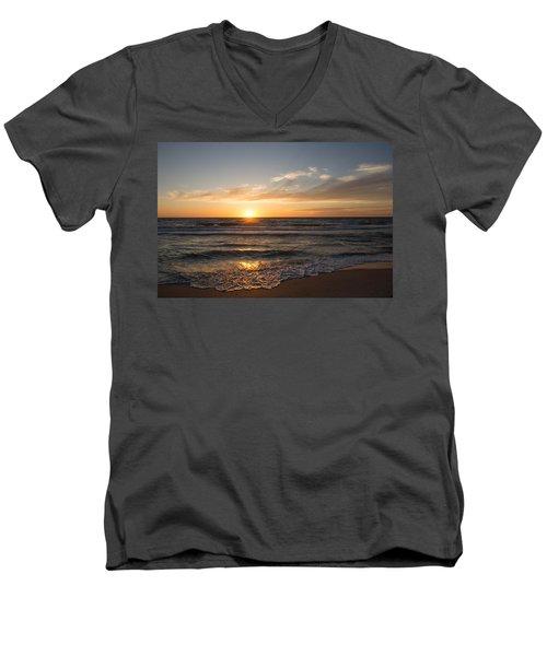 Boca Grande Sunset Men's V-Neck T-Shirt by John Black