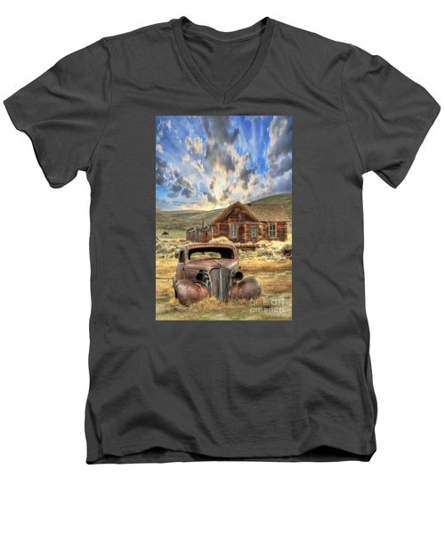 Bodie Ghost Town Men's V-Neck T-Shirt by Benanne Stiens
