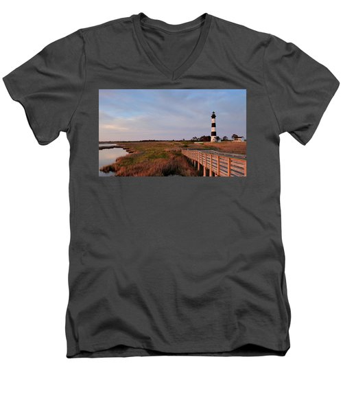 Bodie Island Lighthouse Men's V-Neck T-Shirt
