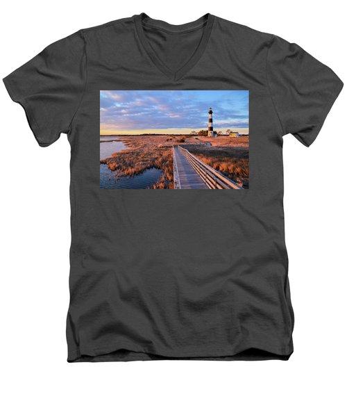 Bodie Lighthouse Men's V-Neck T-Shirt