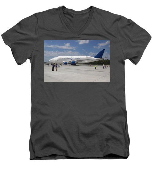 Boeing Dreamlifter 1 Men's V-Neck T-Shirt