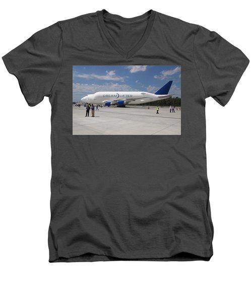 Boeing Dreamlifter 1 Men's V-Neck T-Shirt