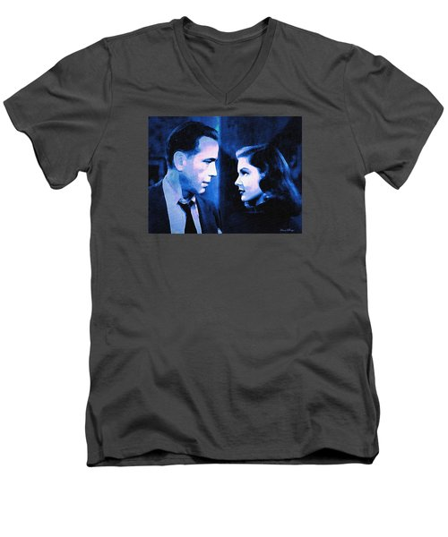 Bogart And Bacall - The Big Sleep Men's V-Neck T-Shirt