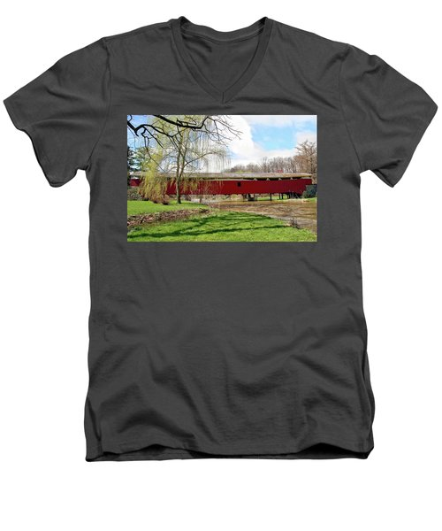 Bogert Covered Bridge Men's V-Neck T-Shirt