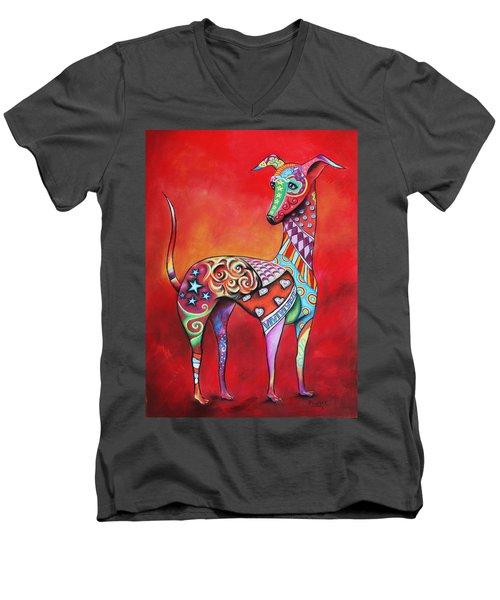 Italian Greyhound  Men's V-Neck T-Shirt