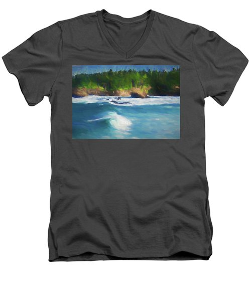 Boiler Bay Blues Men's V-Neck T-Shirt