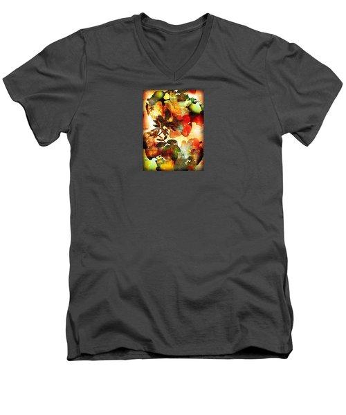 Men's V-Neck T-Shirt featuring the photograph Bokeh Blossoms by Robin Regan