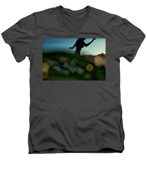 Bokeh Men's V-Neck T-Shirt