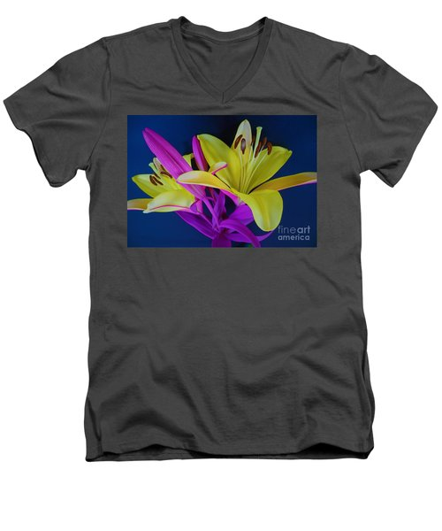 Men's V-Neck T-Shirt featuring the photograph Bold Beautiful Flowers by Ray Shrewsberry