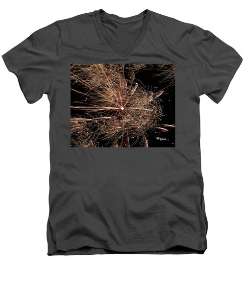 Men's V-Neck T-Shirt featuring the photograph Bold Burst #0711 by Barbara Tristan