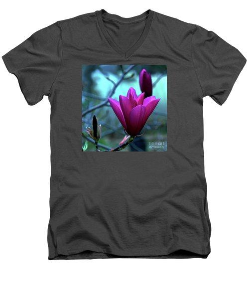 Bold Delicacy Men's V-Neck T-Shirt by Patricia Griffin Brett
