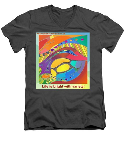 Bold Organic - Life Is Bright With Variety Men's V-Neck T-Shirt