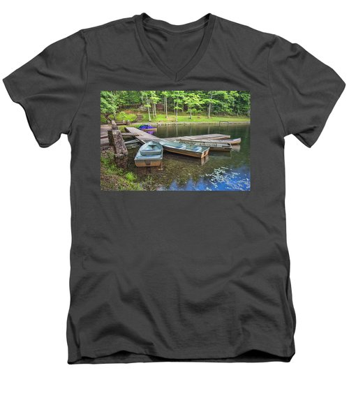 Boley Lake Men's V-Neck T-Shirt