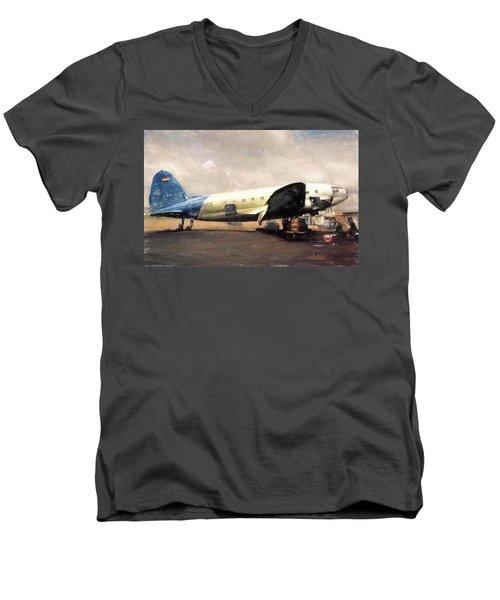 Bolivian Air Men's V-Neck T-Shirt by Michael Cleere