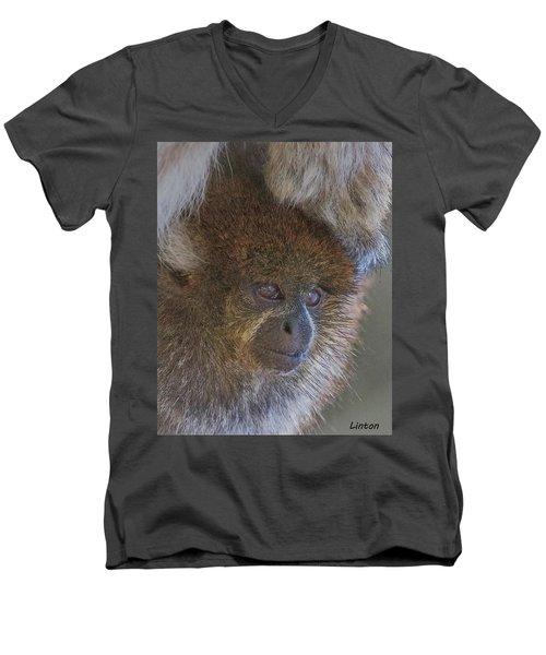 Bolivian Grey Titi Monkey Men's V-Neck T-Shirt