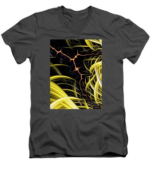 Bolt Through Men's V-Neck T-Shirt