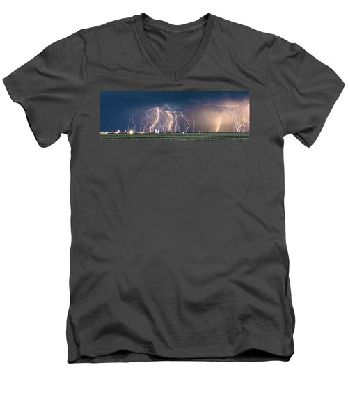 Bolts Over Bushland Men's V-Neck T-Shirt
