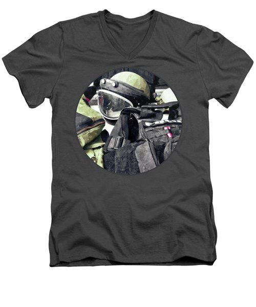 Bomb Squad Uniform Men's V-Neck T-Shirt