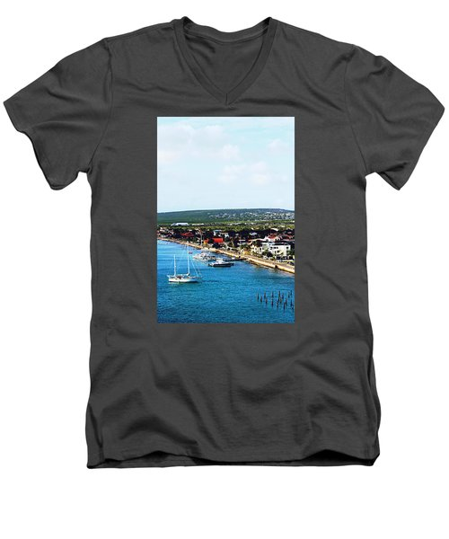Bonaire Men's V-Neck T-Shirt by Infinite Pixels