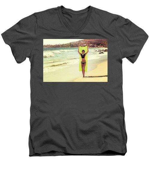 Bond Girl Laguna Beach Men's V-Neck T-Shirt