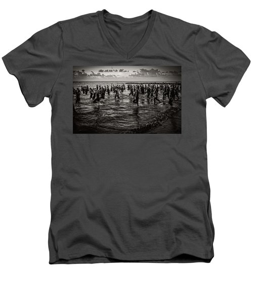 Bone Island Triathletes Men's V-Neck T-Shirt