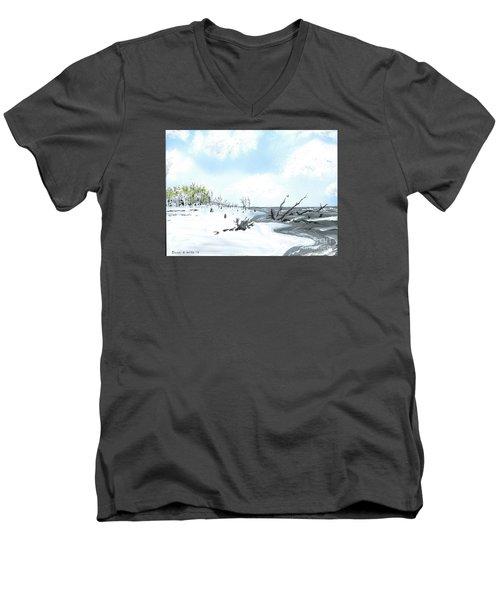 Bone Yard At Capers Island Men's V-Neck T-Shirt