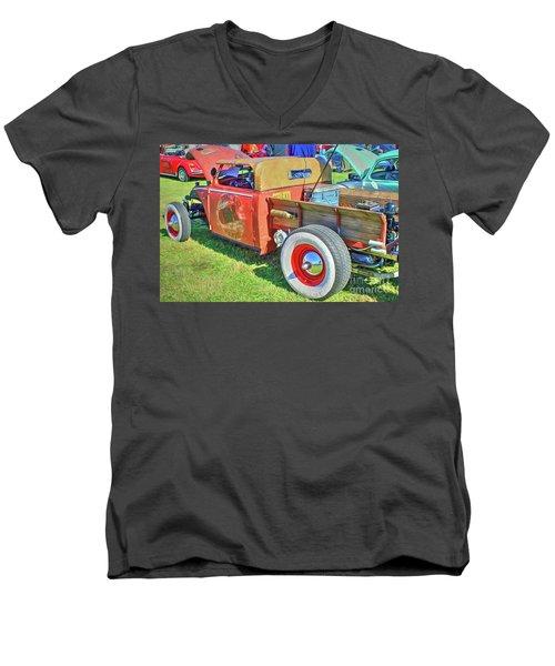 Boneyard Bombs Men's V-Neck T-Shirt by Marion Johnson