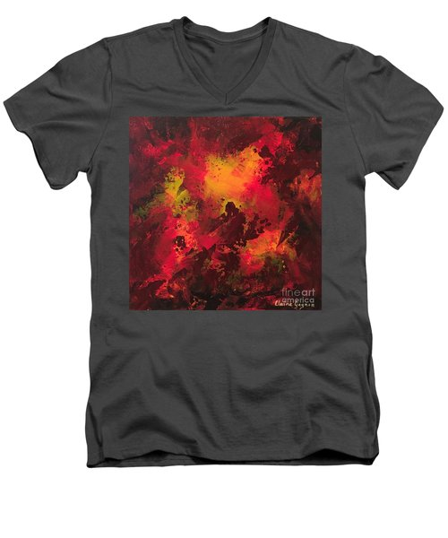 Bonfire Men's V-Neck T-Shirt
