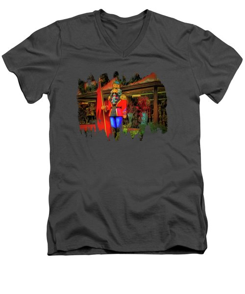 Men's V-Neck T-Shirt featuring the photograph Bonjour Hello Good Day by Thom Zehrfeld