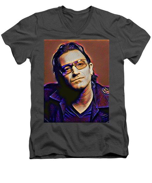 Bono Men's V-Neck T-Shirt by Gary Grayson