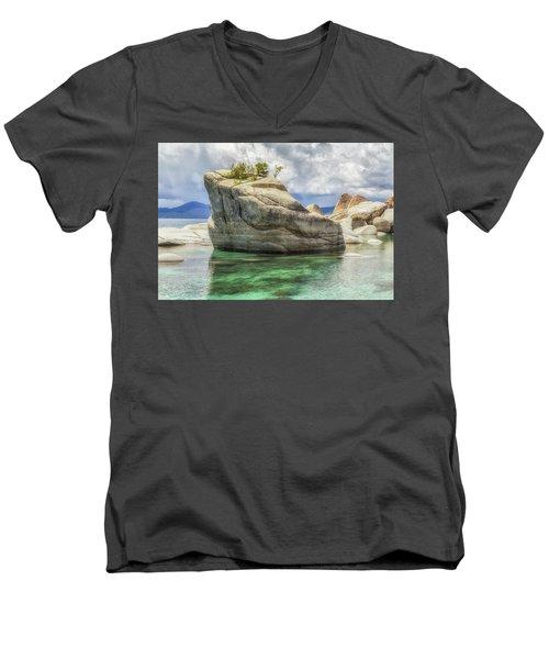 Bonsai Rock And Rain Shower Men's V-Neck T-Shirt
