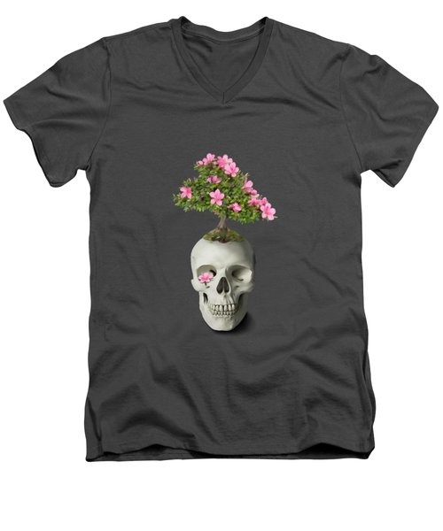 Bonsai Skull Men's V-Neck T-Shirt