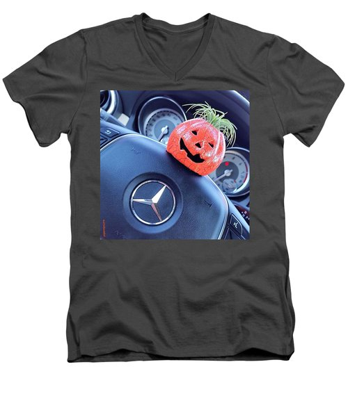 #boo! My #car Is Getting Excited About Men's V-Neck T-Shirt