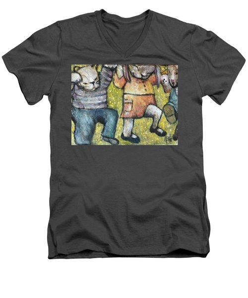 Boogy Woogy Men's V-Neck T-Shirt by Eleatta Diver