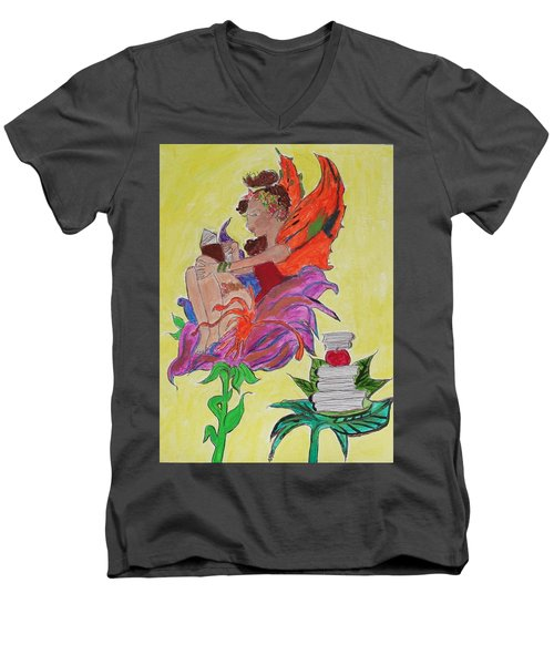 Book Fairy Men's V-Neck T-Shirt