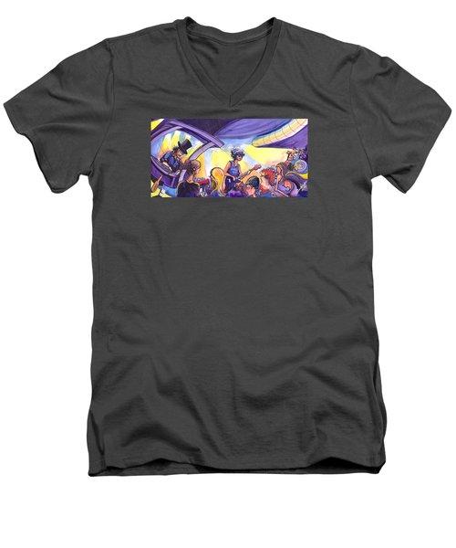 Boombox At The Barkley Men's V-Neck T-Shirt