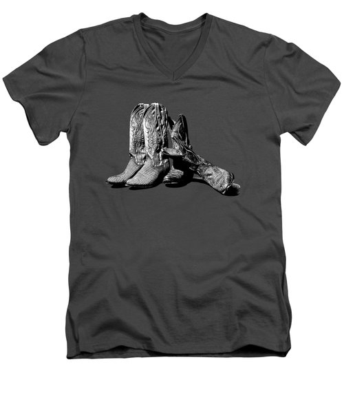 Boot Friends Gray Background Men's V-Neck T-Shirt