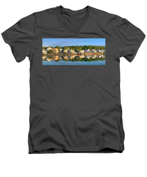 Booth Bay Reflections Men's V-Neck T-Shirt