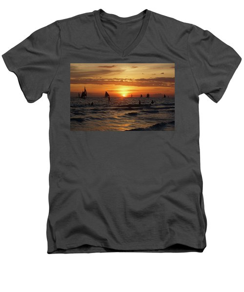 Boracay Sunset Men's V-Neck T-Shirt
