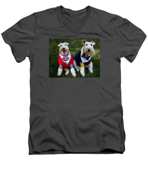 Border Battle Men's V-Neck T-Shirt by Michiale Schneider