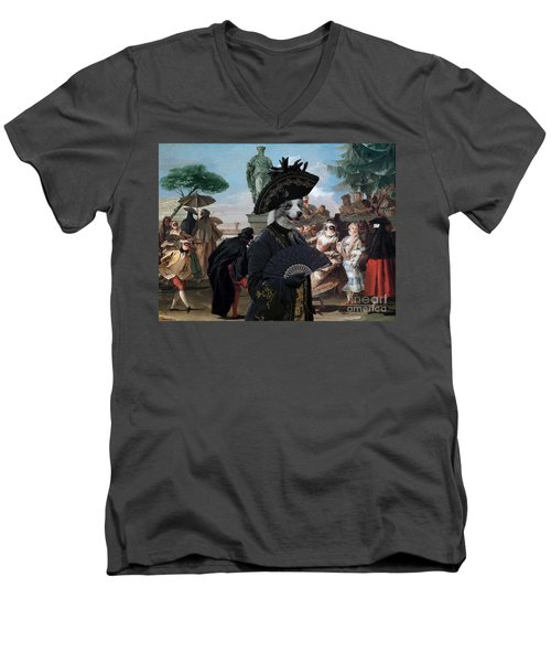 Border Collie Art Canvas Print - The Minuet Men's V-Neck T-Shirt