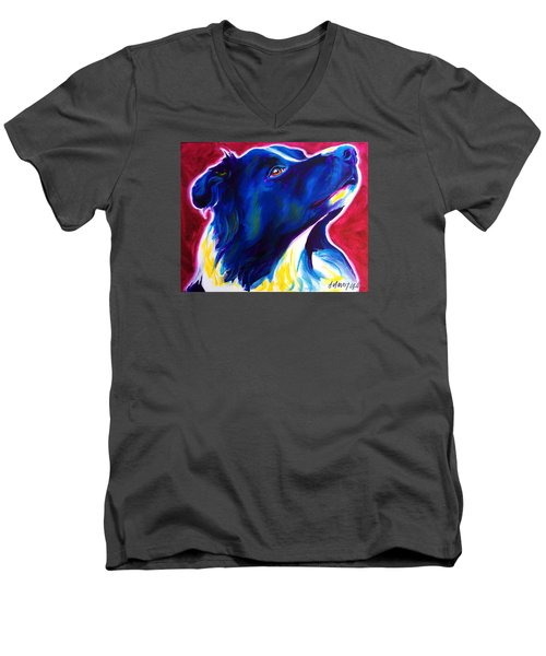 Border Collie - Bright Future Men's V-Neck T-Shirt