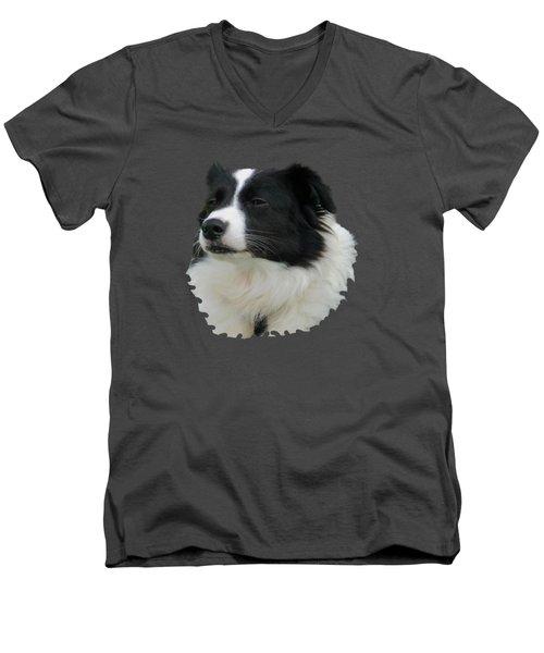 Border Collie Men's V-Neck T-Shirt