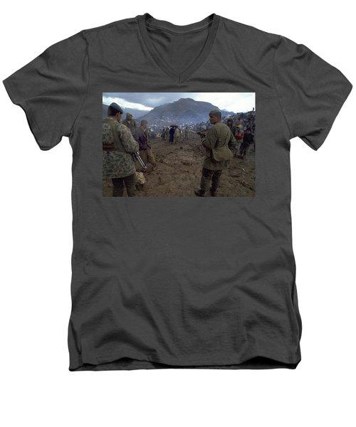 Border Control Men's V-Neck T-Shirt