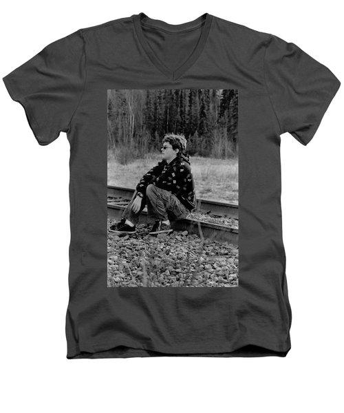 Men's V-Neck T-Shirt featuring the photograph Boredom by Tara Lynn