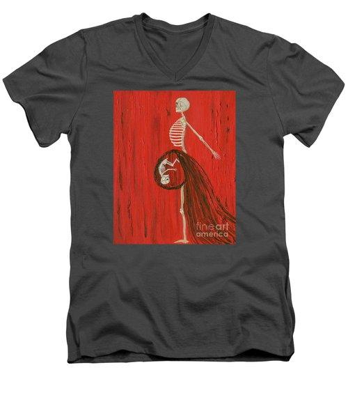 Born To Live E-birth Men's V-Neck T-Shirt by Talisa Hartley