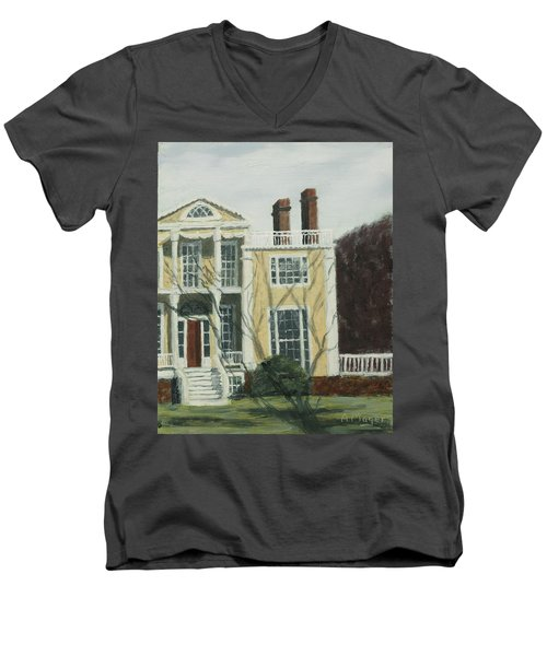 Boscobel In Winter Men's V-Neck T-Shirt