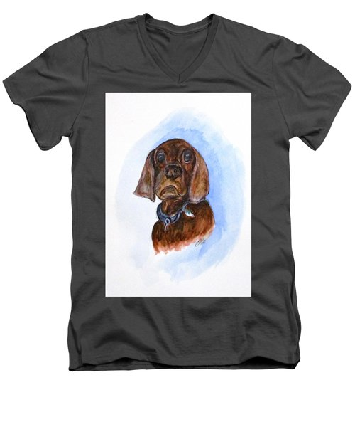 Bosely The Dog Men's V-Neck T-Shirt