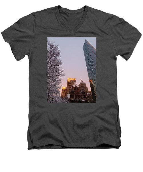 Boston 02/05/16 Men's V-Neck T-Shirt by Robert Nickologianis