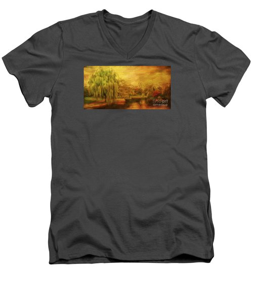 Boston Common In Autumn Men's V-Neck T-Shirt